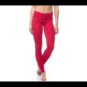 Teeki Fire On the Mountain Red Yoga Pants